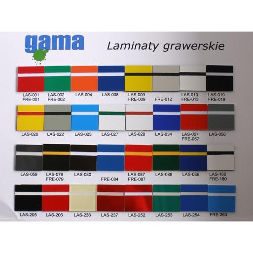 Wzornik laminatów grawerskich