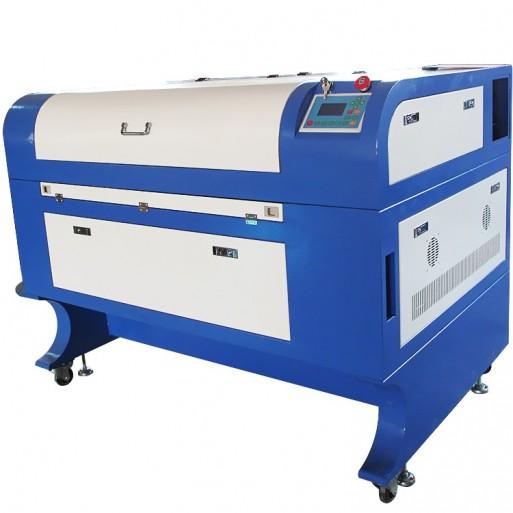 Ploter laserowy Sybil pro 6090 - 80W tuba 6 000 h + chłodnica + stół plaster miodu+ stół nożowy