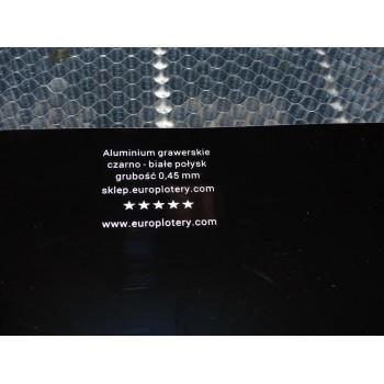 Blacha grawerska anodowana czarno-biała 0,45mm