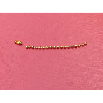 Łańcuszek kulkowy złoty - 3,2 mm długość wg zamówienia