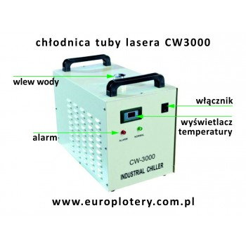 Chłodnica tuby lasera co2 CW 3000