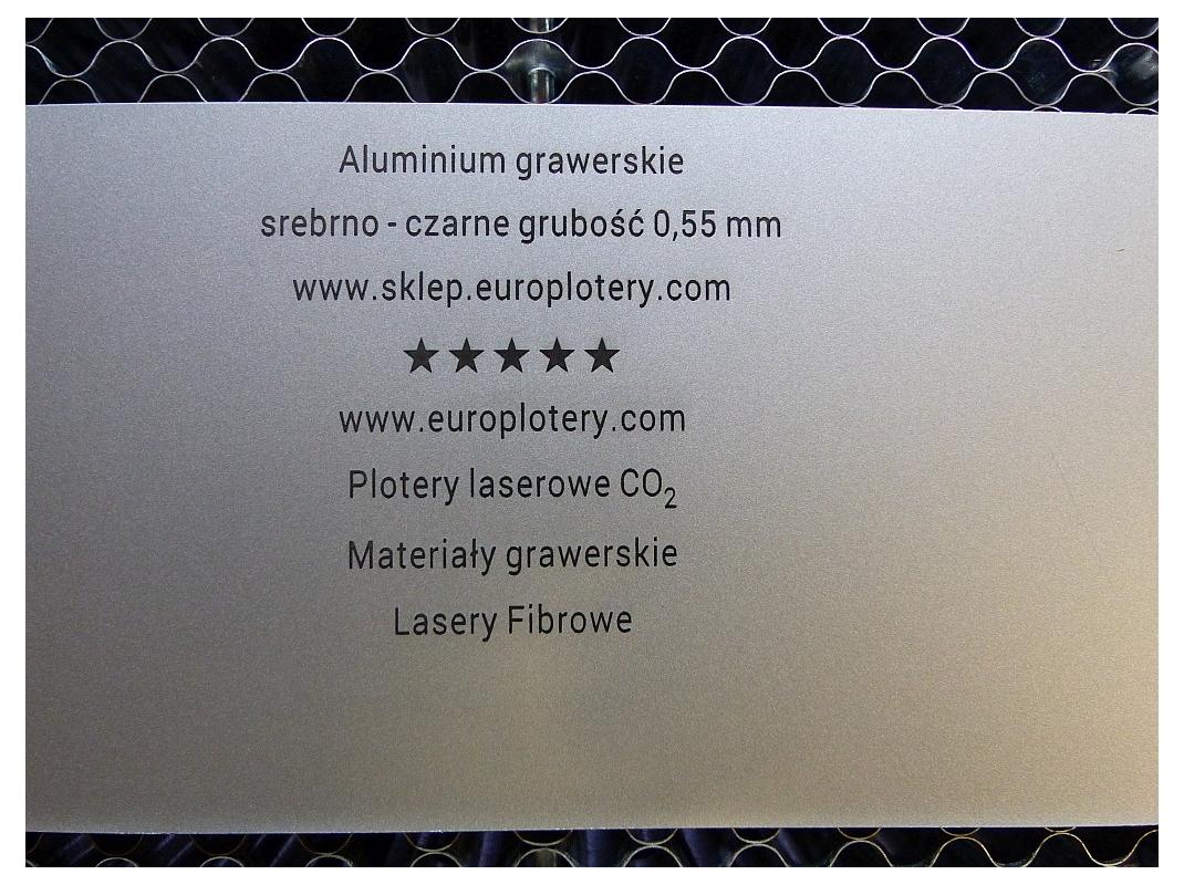 Aluminium anodowane do grawerowania laserem.