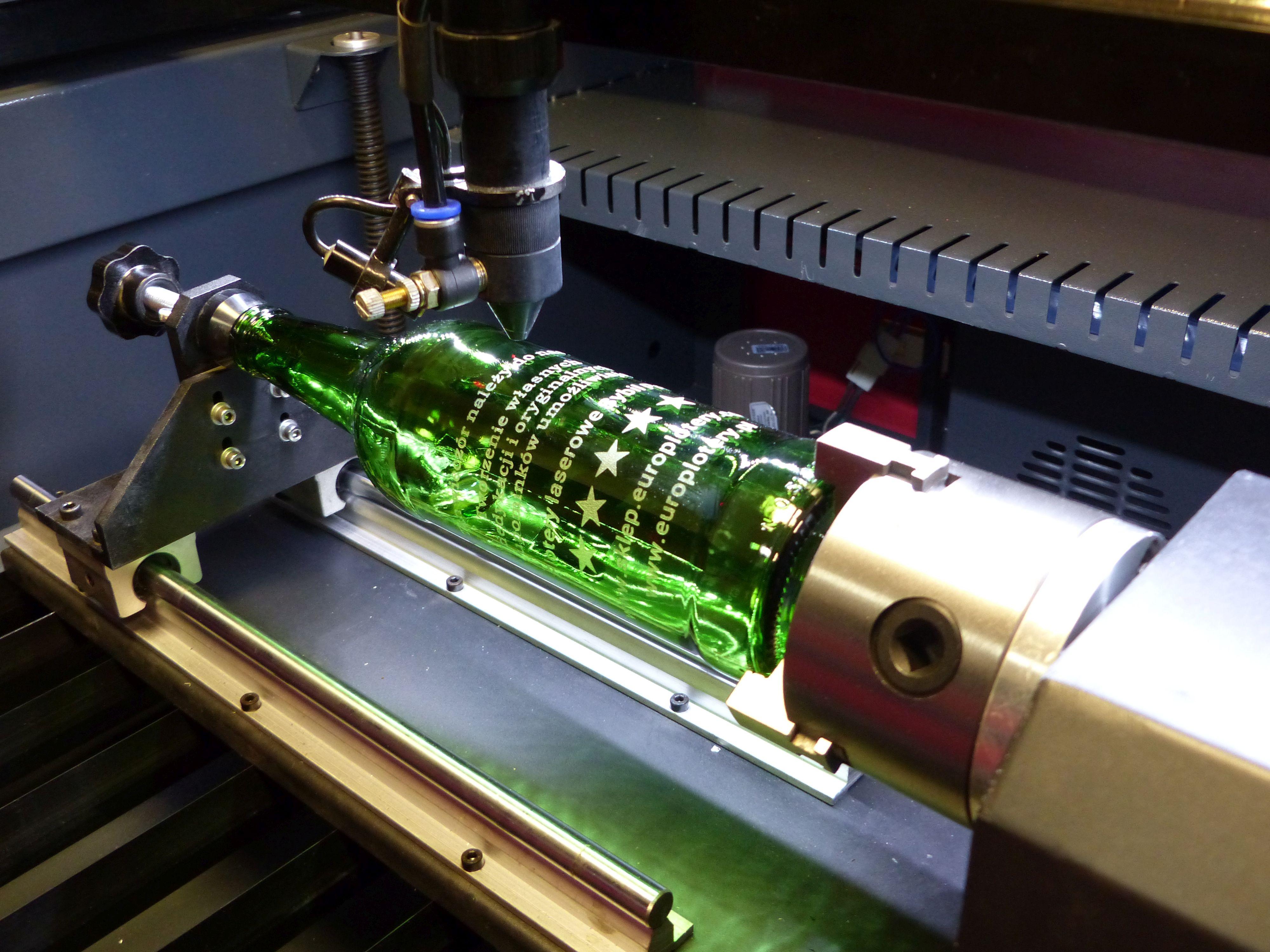 Wszystkie nowe Grawerowanie butelek i szkła laserem. Laser do grawerowania w szkle RL89
