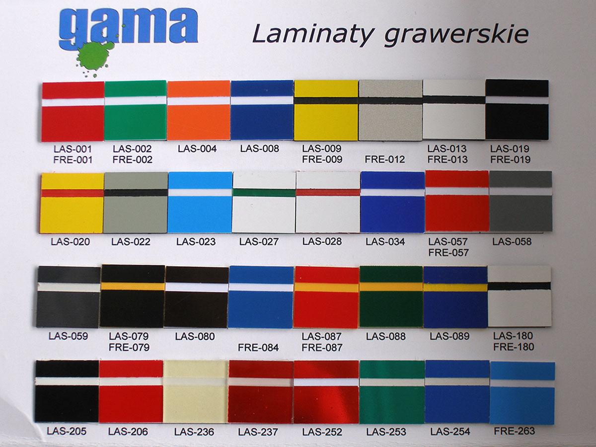 wzornik laminaty grawerskie